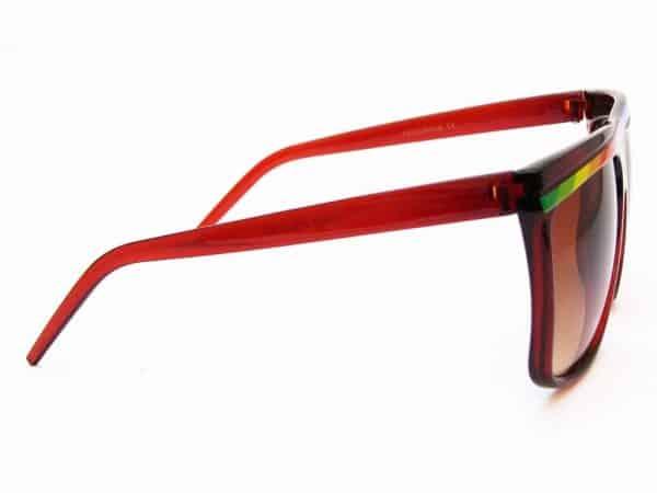 Regenbogen Stripes (brun) - Retro Solbrille