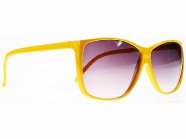 Color Wave (gul) - Retro solbrille