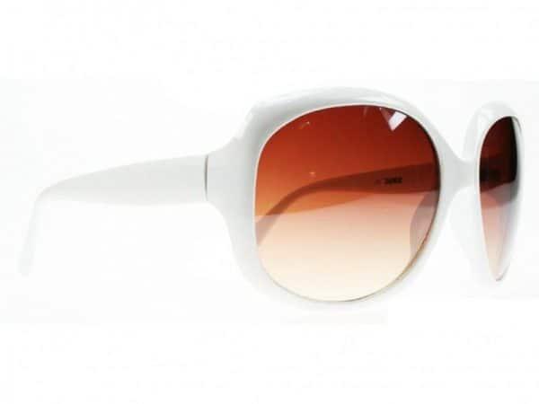 Paris Oval (vit) - Fashion solbrille