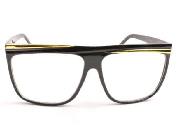 Retro Stripes Clear (svart) - Retro solbrille