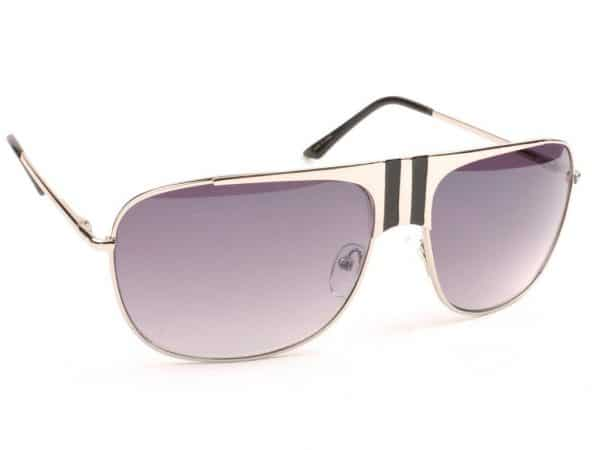 Aviator Stripes (silver / svart) - Aviator solbrille