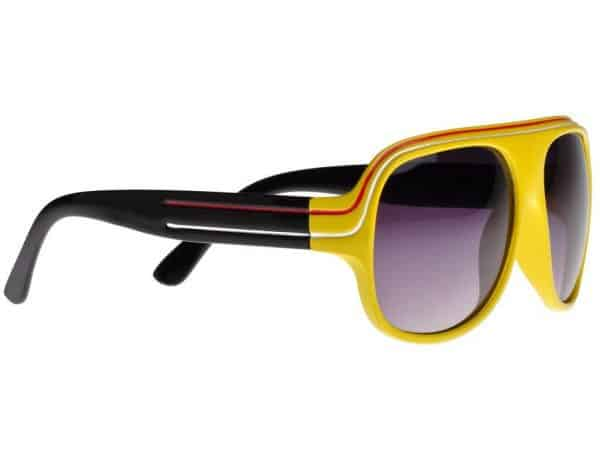 Billionaire Färg (gul / svart) - Retro solbrille
