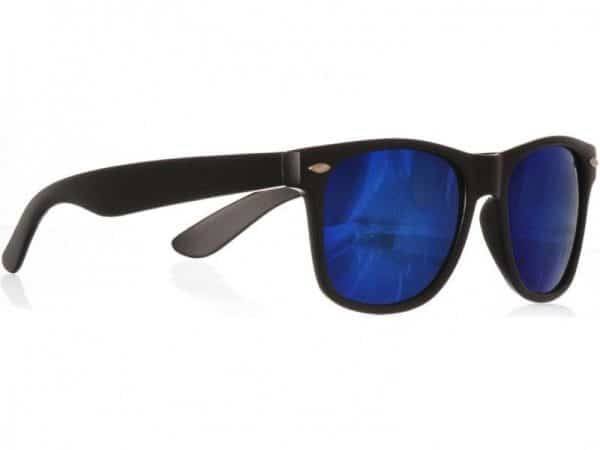 Wayfarer Blå Mirror (svart) solbrille