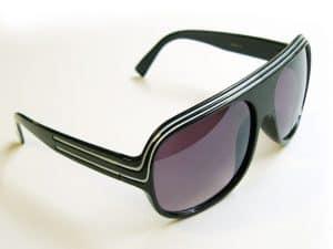 Billionaire Classic (svart) - Retro solglasögon