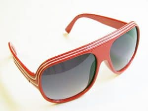 Billionaire Classic (rød / hvit) - Retro Solbriller