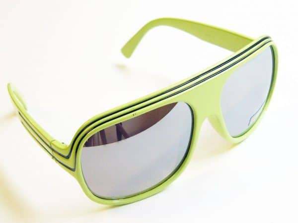 Billionaire Mirror (grønn / svart) - Retro solglasögon