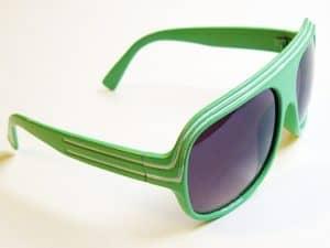 Billionaire Classic (grønn / hvit) - Retro solglasögon