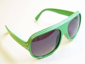 Billionaire Classic (grønn / hvit) - Retro Solbriller