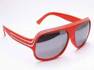 Billionaire Mirror (orange / hvit) - Retro Sonnenbrille