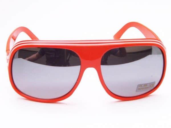 Billionaire Mirror (orange / vit) - Retro solglasögon