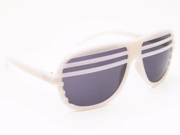 Shutter nyanser (vit) - Retro solbrille