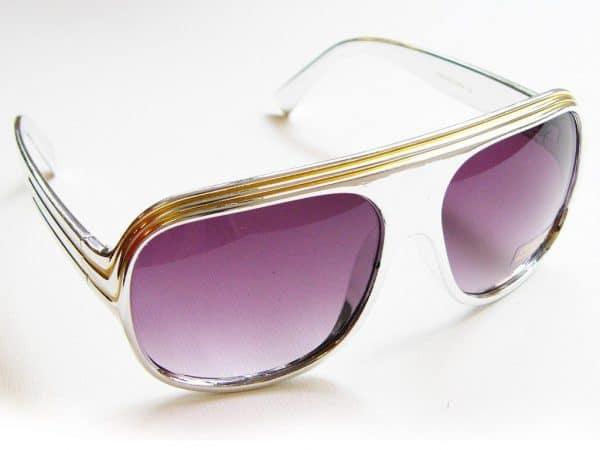 Billionaire Glänzend (sølv / Möwe) - Vintage Solbrille