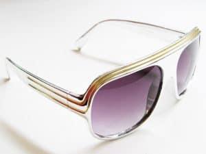 Billionaire Shiny (sølv / gull) - Vintage solbrille