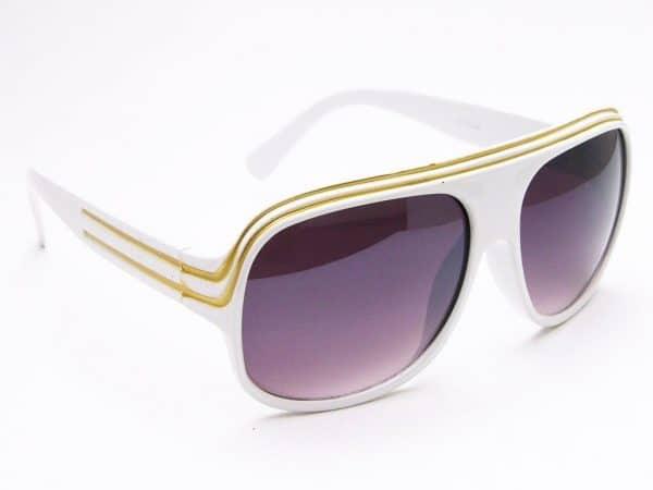 Billionaire Classic (vit) - Retro solglasögon
