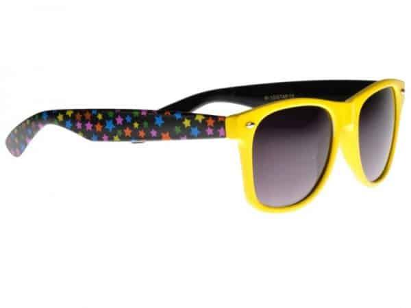 Wayfarer Stars (gul / svart) - Wayfarer solbrille