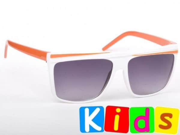 Retro Stripes - Junior (vit / orange) - Solbriller til barn