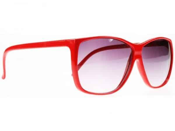 Color Wave (rød) - Retro solbrille