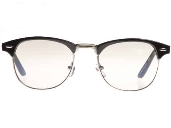 Clubmaster Clear (svart) - Retro solbrille