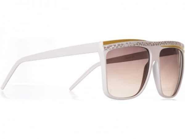 Retro Stripes - (vit) - Retro solbrille