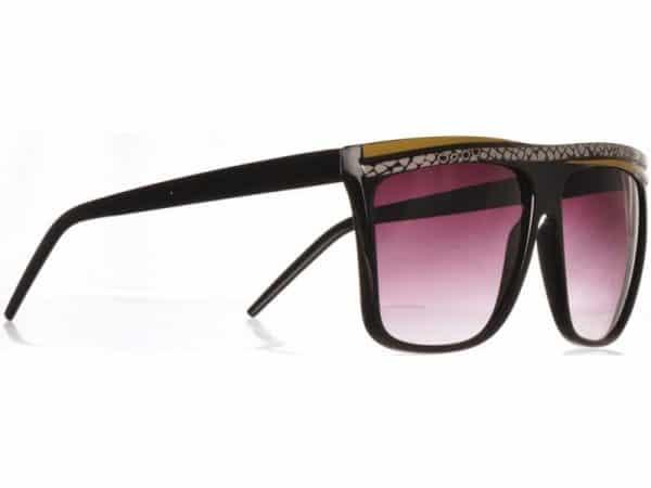 Retro Stripes - (svart) - Retro solbrille