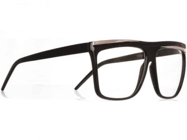 Retro Stripes Clear (svart) - Retro solbrille