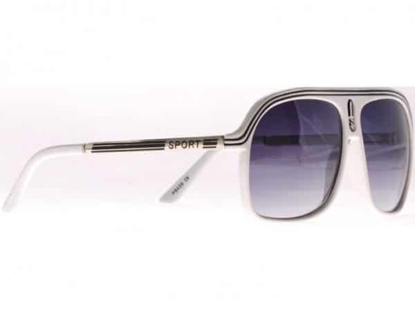 Aviator Sport (vit) - Retro solbrille
