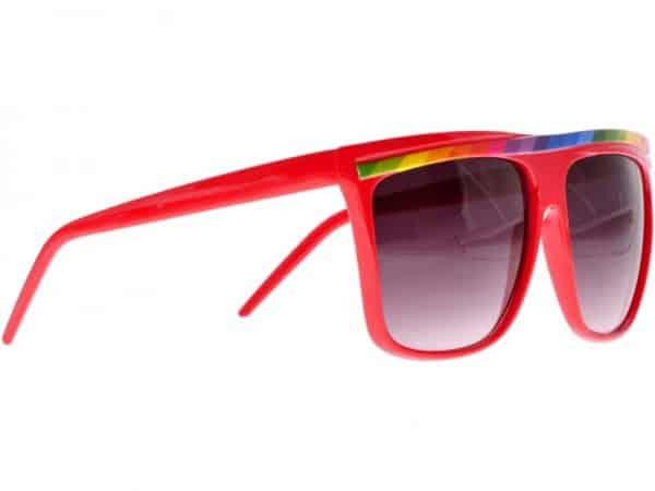 Rainbow Stripes (stång) - Retro solbrille