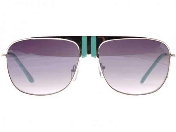 Aviator Stripes (silver / turkis) - Pilot solbrille