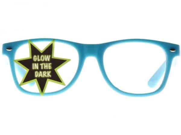 Wayfarer Clear Glow-in Dark (blå) - Wayfarer solbrille