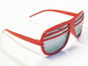 Shutter odcienie rød - Retro solbrille