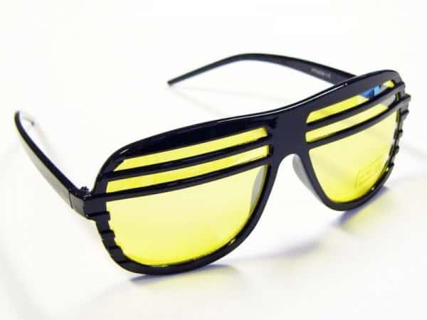 Shutter odstíny (svart) - Retro solbrille
