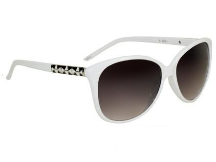 Cateye Retro Fashion (vit) - Retro solbrille