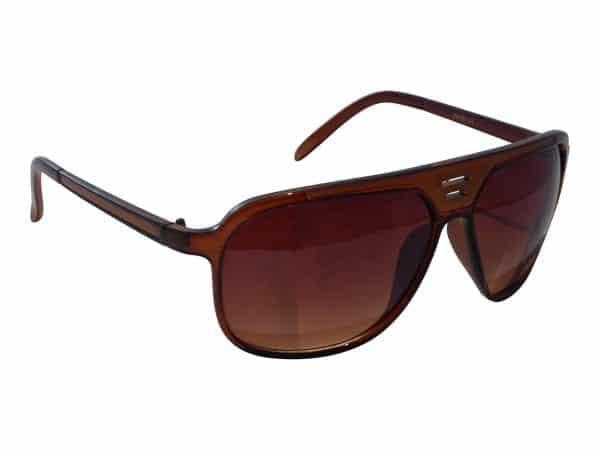 Aviator Sport (svart / brun) - Retro solbrille